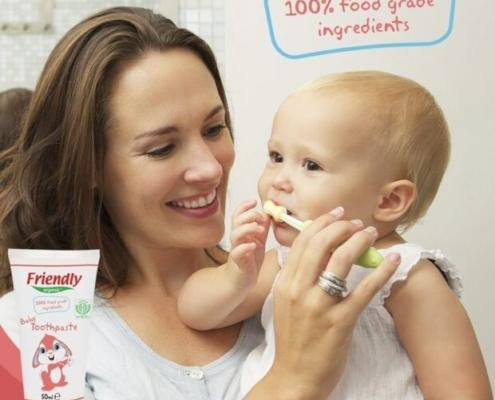 hambapasta beebidele söödavatest koostisosadest
